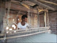Bikaner - Khadi village - Atelier de tissage, machine